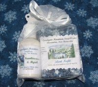 Silent Night Soap Bar 3.5 oz. and 2 oz Lotion in Organza Bag