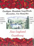 New England Cranberry 3.5oz Bar