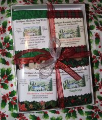 Simple 4 Bar Gift Box with Christmas Soaps