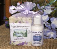 Lavender 3.5oz Soap and 2oz Lotion in Organza Bag