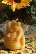 Beeswax Candle Bear and Hive