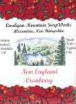 New England Cranberry 3.5oz Bar