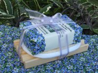 Herbal Soap. Loofah, and Wooden Soap Tray