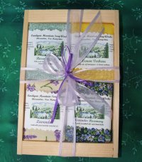 Herbal Four Bar Gift Box in Wooden Crate