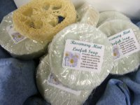 Round Loofah Soap, Rosemary Mint SOLD OUT