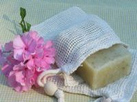 Cotton Flax Soap Sack