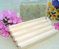 Wooden Wavy Soap Tray